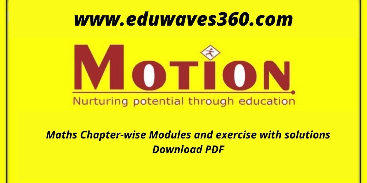 Motion maths modules - PDF